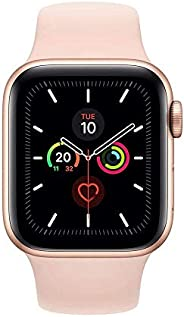Apple Watch Series 5 GPS + Cellular, 40mm Gold Aluminium Case with Pink Sand Sport Band - S/M &