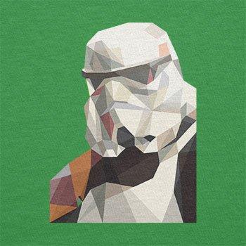 TEXLAB - Low Poly Trooper - Damen T-Shirt Grün