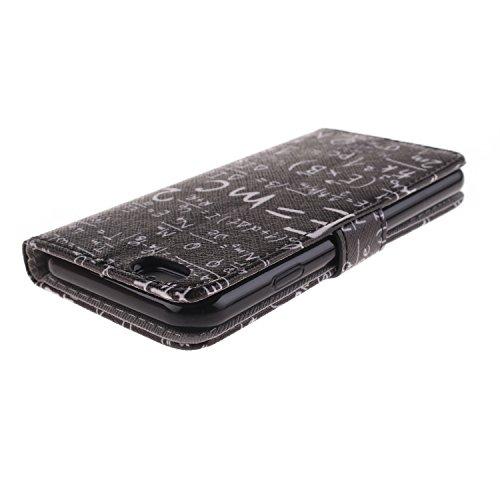 Ooboom® iPhone 5SE Hülle Flip PU Leder Schutzhülle Handy Tasche Case Cover Wallet Standfunktion mit Kartenfächer Magnetverschluss für iPhone 5SE - Formel Formel