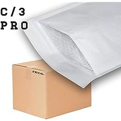 JECO - 100 Enveloppes à bulles d'air pochettes matelassées d'expedition PRO taille C3 C/3 int. 150 x 220 mm