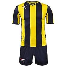 98ae730f663a94 LEGEA Kit BELGRADO Gold Calcio Calcetto Completino Completo Maglietta E  Pantaloncino Sport TORNEO (XXXS,