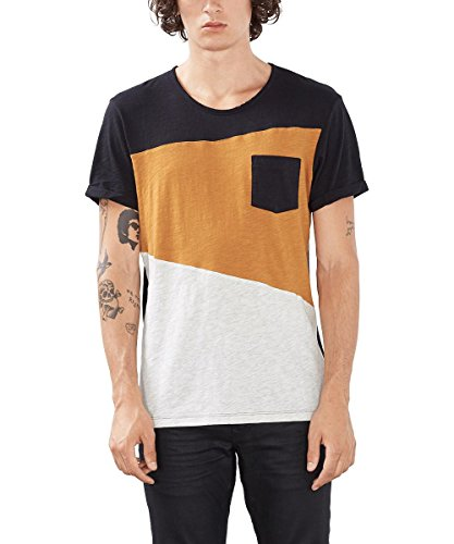 edc by ESPRIT 086CC2K009, T-shirt Uomo, Nero (BLACK), Large
