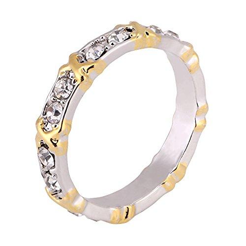Sonew Runde Ringe für Frauen Cut Zirkon Cluster Bling Simulierte Diamant Ewigkeit Band Ring Jubiläum(9#)