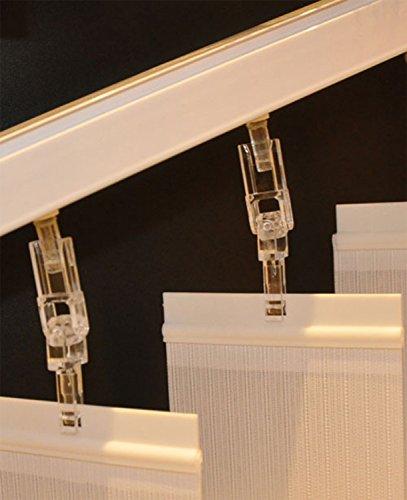 Der Jalousienladen Slope-Haken für Montage von Lamellenvorhängen/Vertikalanlagen an Dachschrägen bis 45 Grad ~ für 89mm Lamellen ~ 12 Stück/Packung