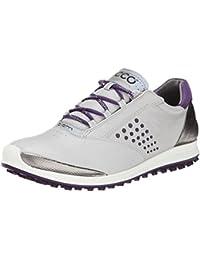 Ecco Women's BIOM Hybrid 2 - Zapatos de golf para mujer, color gris claro / púrpura, talla 41