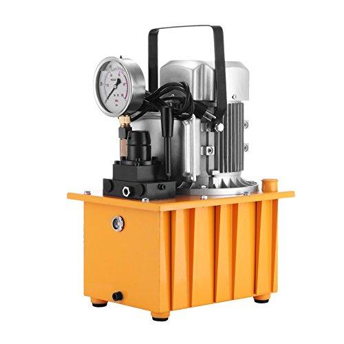 Happybuy Elettrica Pompa Idraulica 10000 PSI Elettrico a Doppia Azione valvola Manuale Pompa Idraulica Pressione (Doppia Elettrovalvola)
