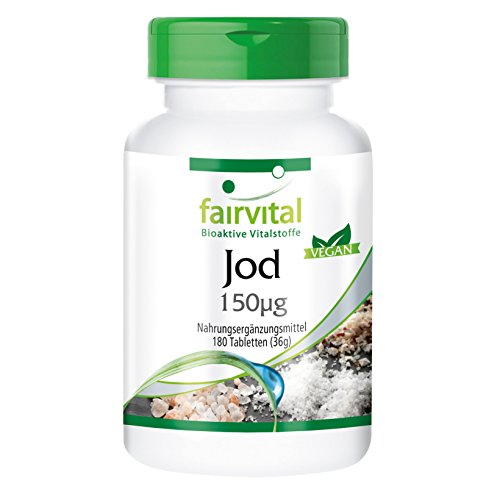 Yodo - 180 Comprimidos - Altamente concentrado (150 mcg) - De yodu