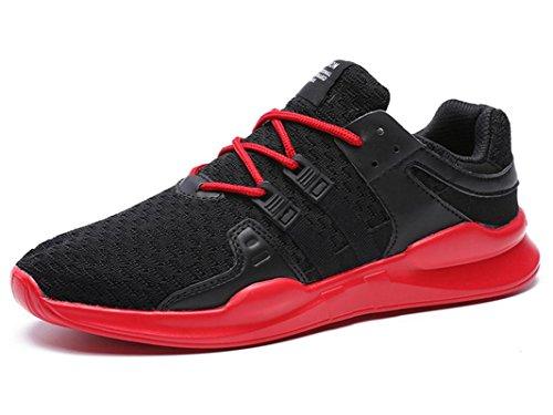 IIIIS-F Hombres Verano Ligero Respirar Libremente Cordón Malla Deporte Zapatos
