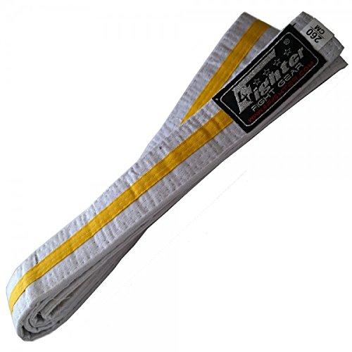4Fighter Karate Gürtel weiß-gelb in 260cm