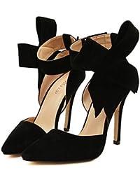 Xianshu mujer pajarita bombas de tac n alto vestido de fiesta zapatos de  corte 98e536706e45