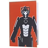 Doctor Who Cyberman Home Greeting Card - Red