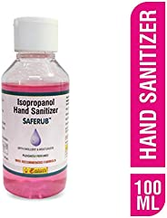 Saferub 75% Alcohol Based Hand Sanitizer WHO recommended formula, 100ml
