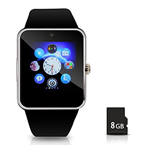 Hiwatch Montre de Téléphone Intelligente Smart Watch Bluetooth avec 8