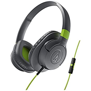 Audio-Technica SonicFuel Casque filaire avec Commande pour Smartphone Gris/Vert