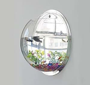 1 x fish tank wall mounted bowl aquarium hanging plant pot for Plante pour aquarium
