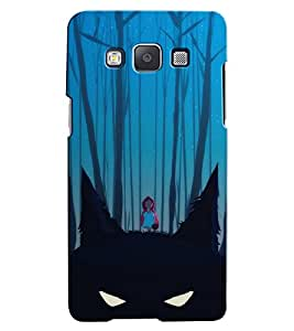 Citydreamz Girl In Jungle/Trees/Grey/Lonely/Animal/Eyes Hard Polycarbonate Designer Back Case Cover For Samsung Galaxy A3