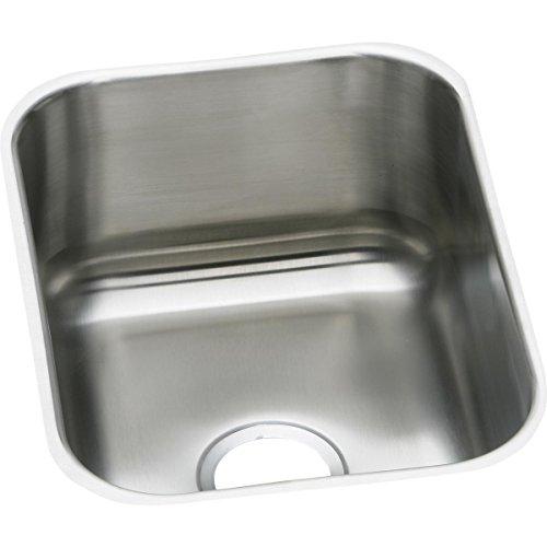 Elkay DXUH1318 18 Gauge Stainless Steel Single Bowl Undermount Bar/Prep Sink, 16 x 20.5 x 8 by Elkay (Elkay 16)