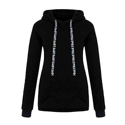UYSDF Damen Plus Größe Lange Ärmel Solide Sweatshirt Kapuze Zur Seite Fahren Tops Hemd 2019