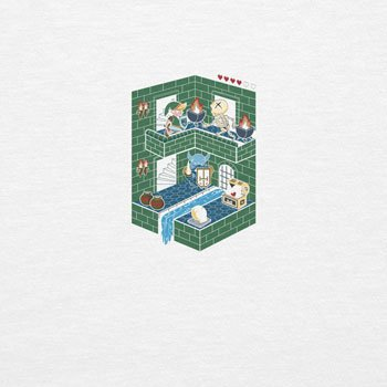 Planet Nerd - Isometric Adventures - Herren Langarm T-Shirt Weiß