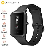 "Xiaomi Huami Amazfit Bip Smart Watch Reflection Color Screen 1.28"" Baro IP68 Waterproof GPS for Android & iOS English Version (Black)"