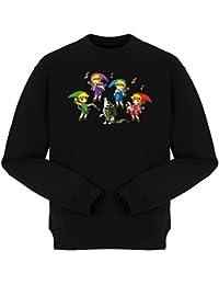 Pull Jeux Vidéo - Parodie de Link de la Légende de Zelda - Orchestre symphonique en Solo :) - Pull Noir - Haute Qualité (890)