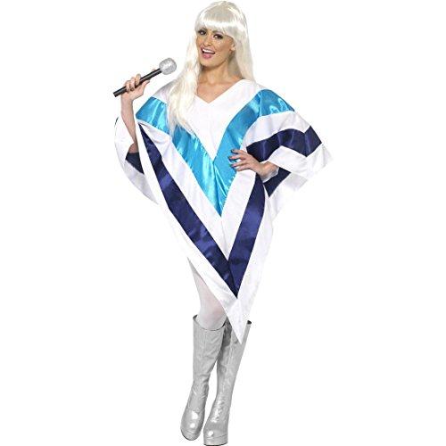 Abba Kostüm Super Troopers Damen Poncho Damenumhang Damenponcho Damen Cape Schlagermove Outfit