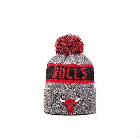 New Era Chicago Bulls JR Marl Knit Beanie Mütze, grey/red/black, Youth