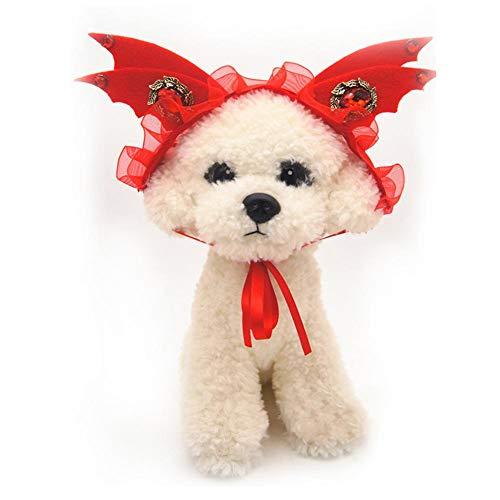 SinceY Pet Gear Pet Bandanas Pet Kopfbedeckung Hund Kostüm Haar Tragen Teufel Kappe Hund Katze Kopfschmuck Hund Outfits Heimtierbedarf (Kostüme Für Teufel Hunde)