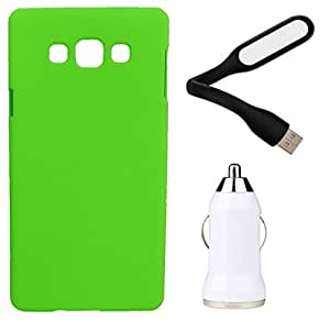 Toppings Hard Case Cover With Car Charger & USB LED LightSamsung Galaxy J1 Ace - Green