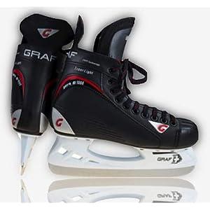 GRAF Eishockey Schlittschuhe G1000 mit GRAF Kufe Eishockeyschlittschuhe