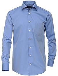 Casa Moda Langarm Hemd blau 100% Baumwolle Kentkragen EXTRA LANGER ARM 72cm