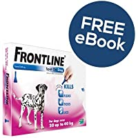 Frontline Spot On For Large Dogs - 6 Pipettes - INCLUDES EXCLUSIVE PETWELL® FLEA AND TICK E BOOK