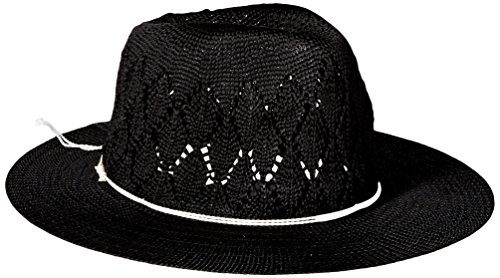 physician-endorsed-womens-frankie-knit-fedora-with-contrast-cord-and-silver-charm-black-one-size