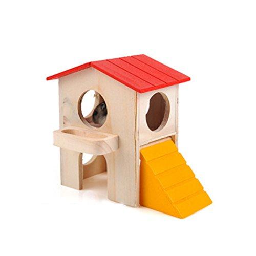 CDKJ: Hamster de Madera para Mascotas, Accesorios de Dormitorio, hámster arqueado, Juguetes de Madera