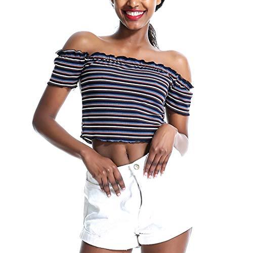 Oksea Off Shoulder Stripe Damen Bluse Onliris Ls Off Shoulder Stripe Top Damen Bluse Onljanice Off Shoulder Stripe DNM Top Damen T-Shirt Stripe ()