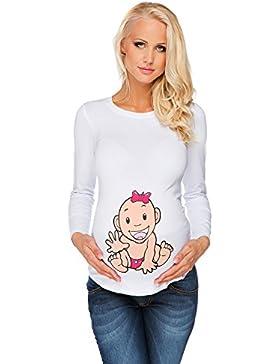 Maglietta premaman Bambina bianca Abbigliamento Premaman MY TUMMY ®©™
