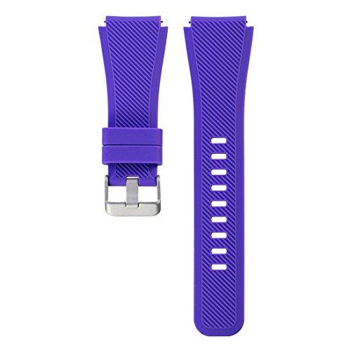Preisvergleich Produktbild Sansee Sport-Art- und Weisesilikon-Uhr-Armband-Bügel-Band für Samsung-Zahnrad S3 klassisch - (Samsung S3 klassischer Silikonbügel) (lila)