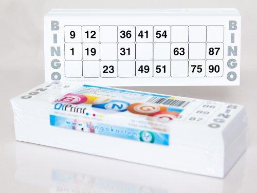 200grande cartes de bingo pour personnes âgées 15en 90chiffres (21x 7,5cm)