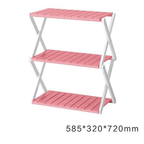 FL- Intérieur et extérieur pliable en bois multicouche fleur cadre salon balcon coin stockage rack (Couleur : #4, taille : 3 layers)