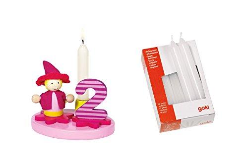 Geburtstagskind Mädchen mit Zahlen 0-9 inkl. 10 Kerzen
