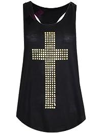 femmes gilet clouté croix (black studded cross vest)