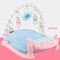 MAyouth Kick And Play Piano Gym, New Born Baby Play Mat con Centro attività, Musica e luci, Early Education Adatto dalla Nascita (Versione Inglese)