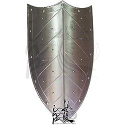 Shivi Shakti Enterprises - Escudo de Acero Medieval con Capas, Escudo de Brazo Romano, 18 g