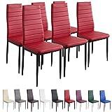 Albatros 2709 MILANO - Set di 6 sedie da pranzo, rosso