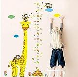 Cartoon Giraffe Höhe Maßnahme Wandaufkleber Für Kinderzimmer Messlatte Wandtattoos Wohnkultur Kinderzimmer Dekoration