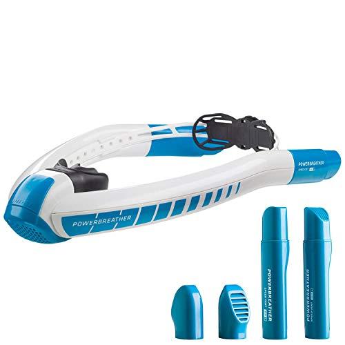 POWERBREATHER Wave - Schnorchelset für jeden Einsatzbreich - 100% frische Luft, 100% trocken, kein Ausblasen nach Tauchgang durch patentierte Ventiltechnik by AMEO Sports