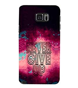 EPICCASE Never Give up Mobile Back Case Cover For Samsung Galaxy Note 5 (Designer Case)