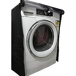 KHOMO Gear-Housse de protection pour machine à laver et séchoirs à charge avant protecteur imperméable pour Lave-linge et sèche-linge de vêtements lessive-taille Universel-Noir