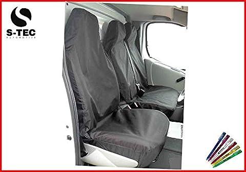 LDV CONVOY 96-05 REAR WHEEL DRIVE - - S-tech Waterproof Black Van Seat Covers 2+1 | Attractive Design | Heavy Duty | Durable |FREE S-TECH Pen