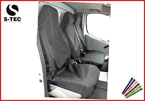 Preisvergleich Produktbild CITROEN RELAY H1 - - S-tech Waterproof Black Van Seat Covers 2+1 | Attractive Design | Heavy Duty | Durable |FREE S-TECH Pen